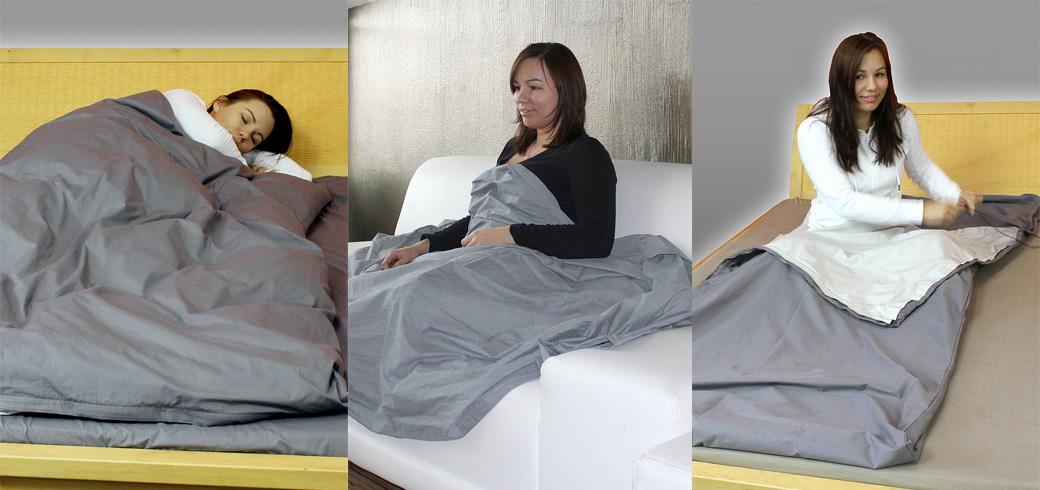 nouveau sac de couchage couverture et linge de lit anti ondes ondes. Black Bedroom Furniture Sets. Home Design Ideas