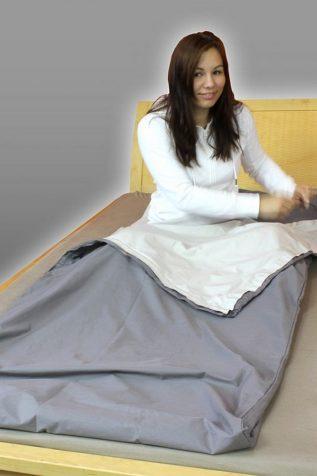 Couverture, sac de couchage, linge de lit anti-ondes