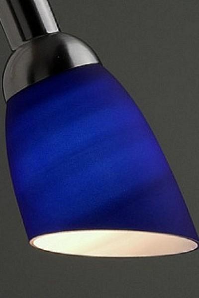 Abat jour en verre bleu pour lampe de bureau et appliques for Abat jour pour lampe