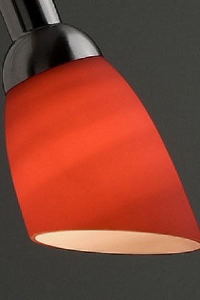 Abat jour en verre rouge pour lampe de bureau et appliques blind es aci - Bureau en verre rouge ...