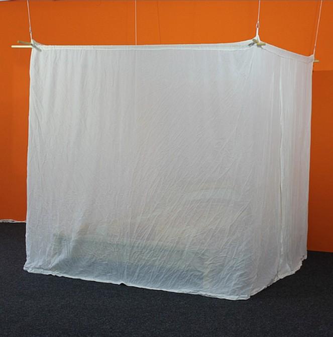 baldaquin de protection anti ondes hautes fr quences en tissu swiss shield naturell forme. Black Bedroom Furniture Sets. Home Design Ideas