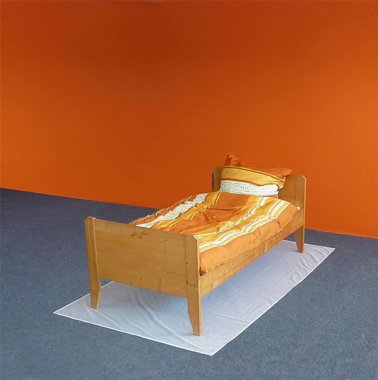 dessous de lit anti ondes hautes fr quences en tissu swiss. Black Bedroom Furniture Sets. Home Design Ideas