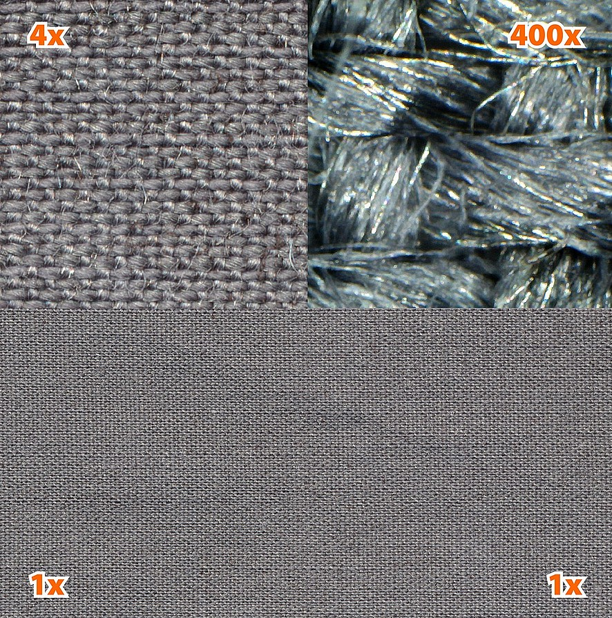 tissu de protection anti ondes hautes et basses fr quences steel gray yshield ondes. Black Bedroom Furniture Sets. Home Design Ideas